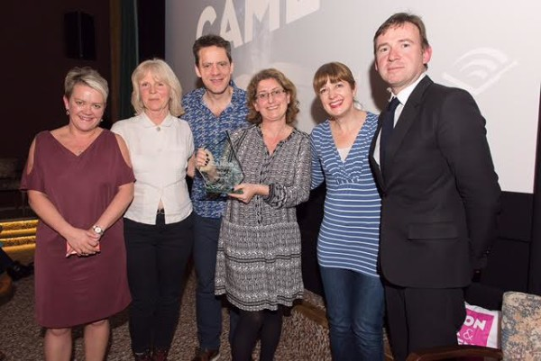 (From left to right) Lupus Films' Ruth Fielding, the films directors Joanna Harrison and Robin Shaw, Walker Productions Julia Posen, Lupus Films' Camilla Deakin and authour David Nicholls