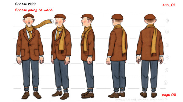 Ernest going to work character sheet