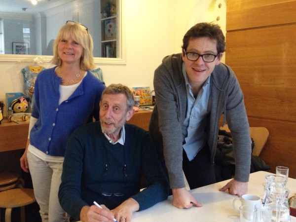 Authour Michael Rosen with directors Joanna Harrison and Robin Shaw